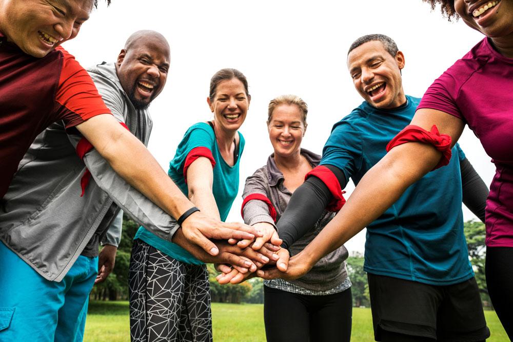 Six People - All Hands In - Ready - Break!