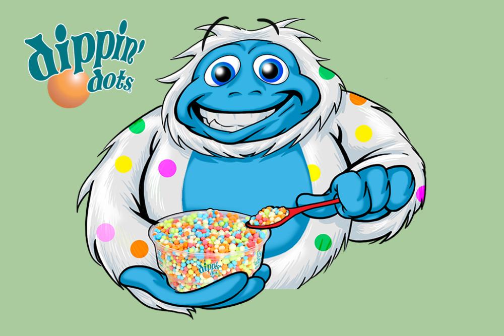dippin dots snowman logo